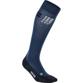 Ski Socks Merino Herren black grey