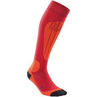 Ski Thermo Socken Damen cranberry orange