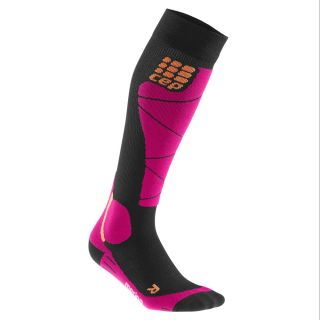 Ski Merino Socks Damen black pink