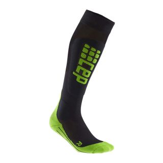 Ski Race Socks Herren black green