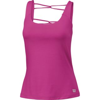 Summer Ladder Back Athletic Tanktop Damen rose violet