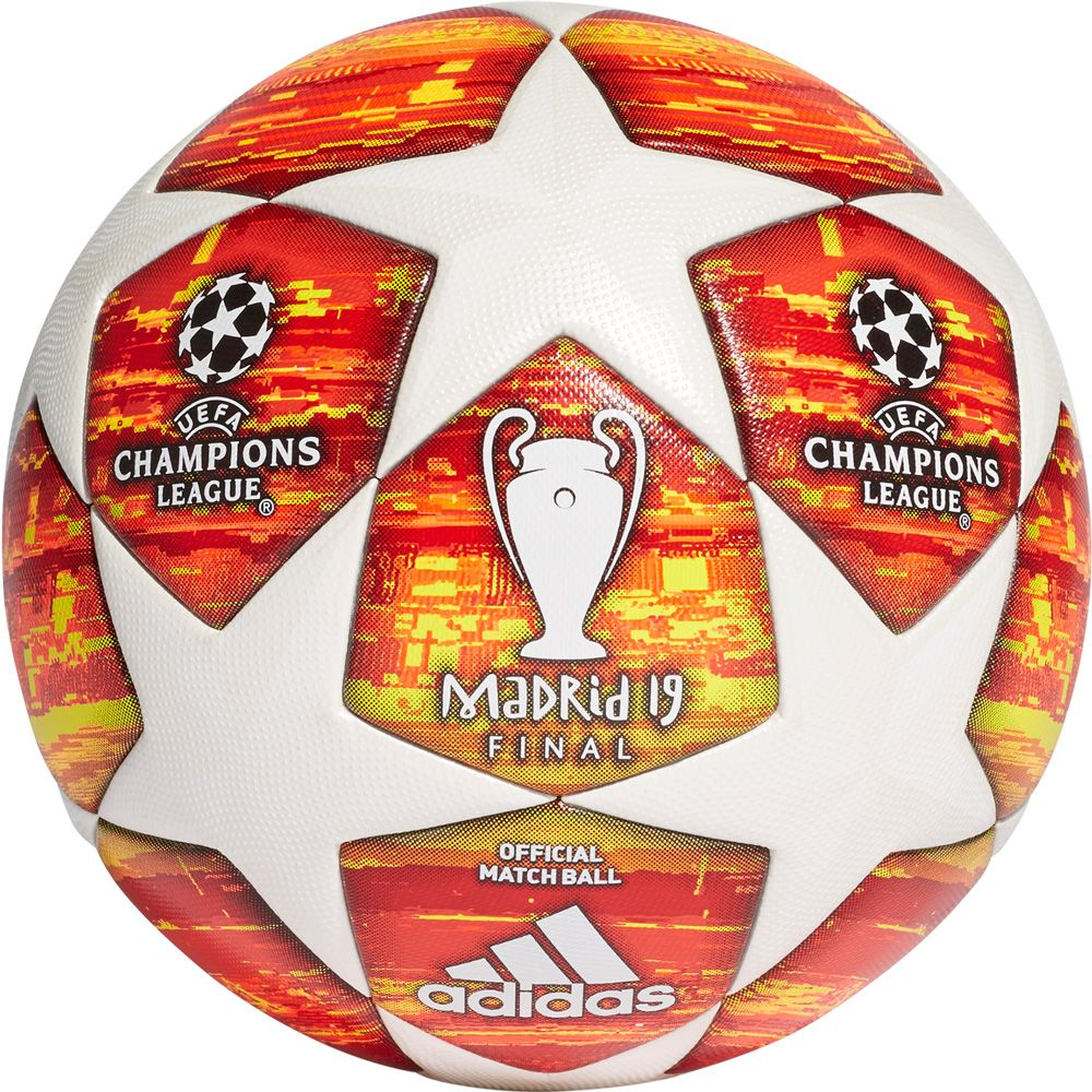 new concept a7e36 4b253 adidas UCL Finale Madrid 19 Official Match Ball white active red scarlet  solar red