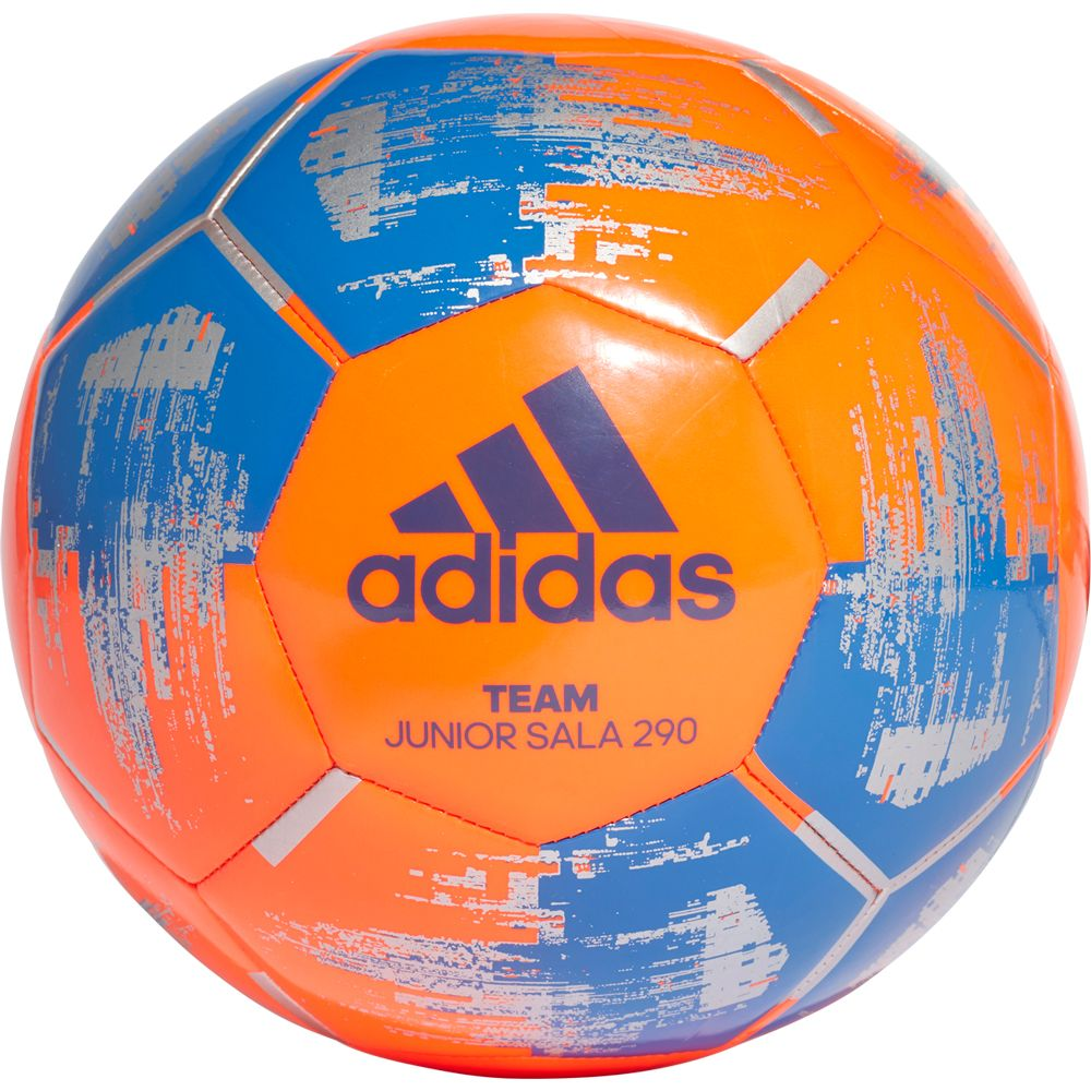 Adidas Team Junior Sala 290 Fussball Solar Orange Blue Silver Met