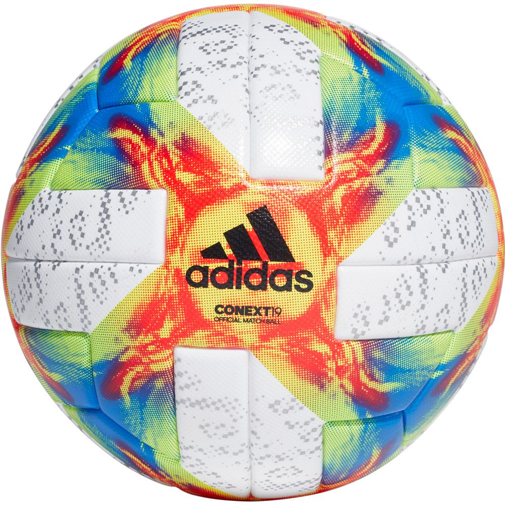 Conext 19 Official Match Ball white solar yellow solar red football blue