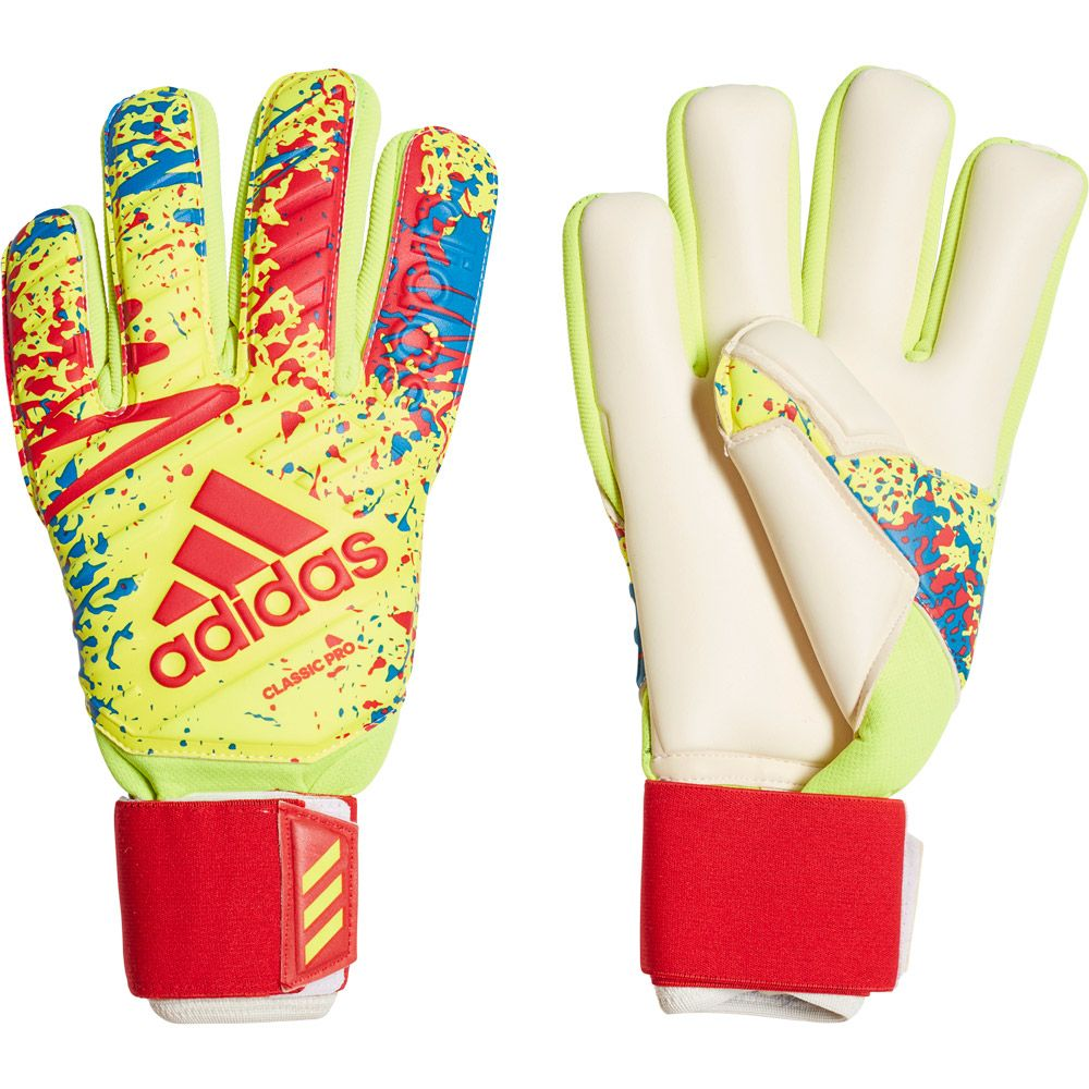 Habitual Despertar Nylon  adidas - Classic Pro Goalkeeper Gloves solar yellow active red football  blue at Sport Bittl Shop
