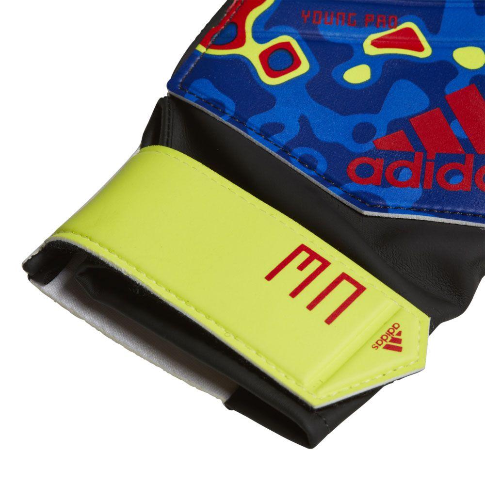 meet ee7bd 405d3 Predator Manuel Neuer Young Pro Goalkeeper Gloves solar yellow football  blue active red