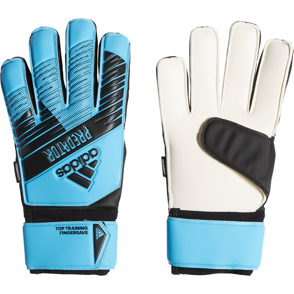 Tierras altas rápido bloquear  adidas - Predator Top Training Fingersave Goalkeeper Gloves bright cyan  black at Sport Bittl Shop