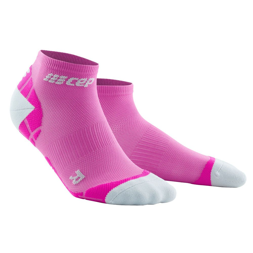 CEP Ultralight lLow Cut Compression Socks Women electric pink light grey