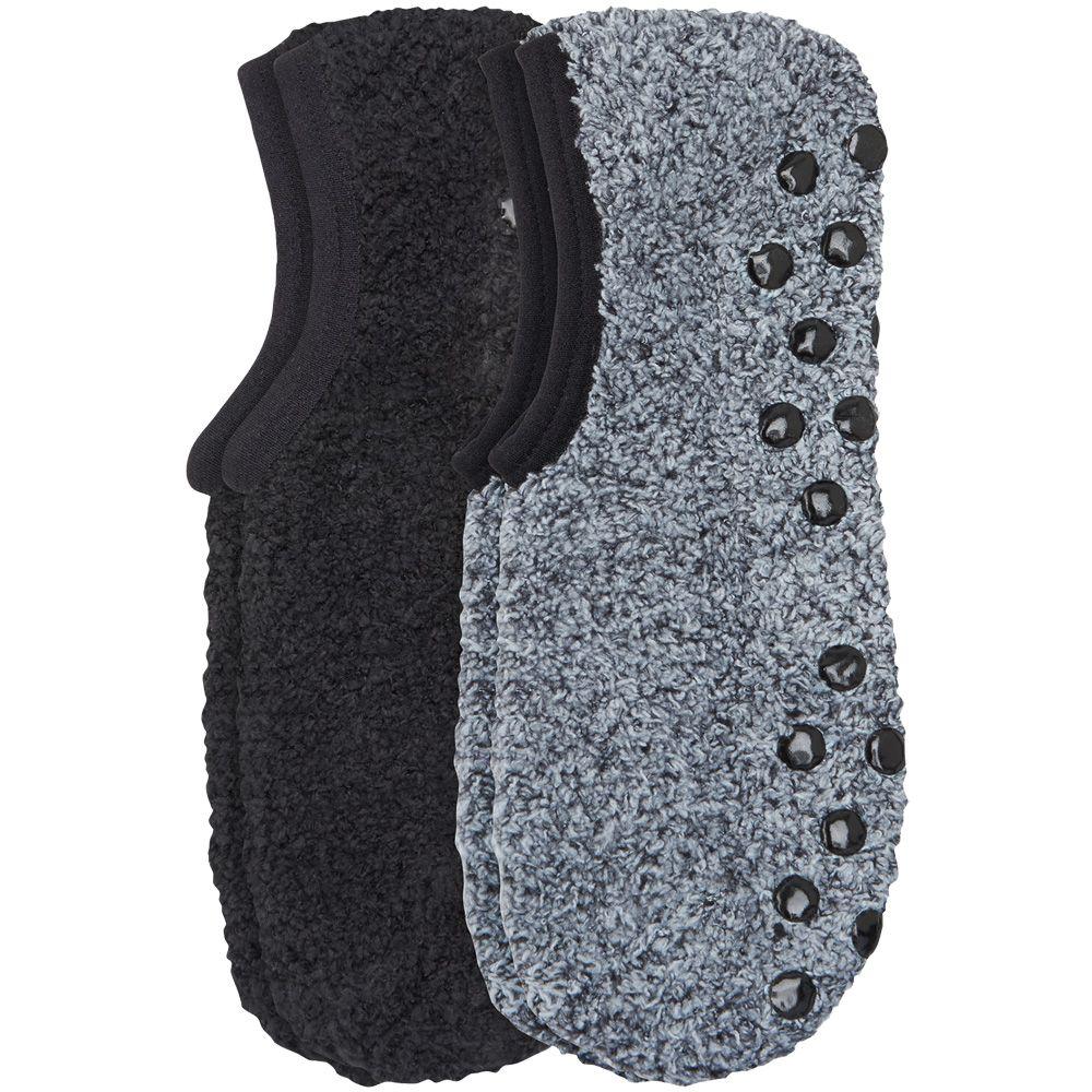 Camano Cosy Sneaker ABS Socken 2er Pack Damen schwarz grau
