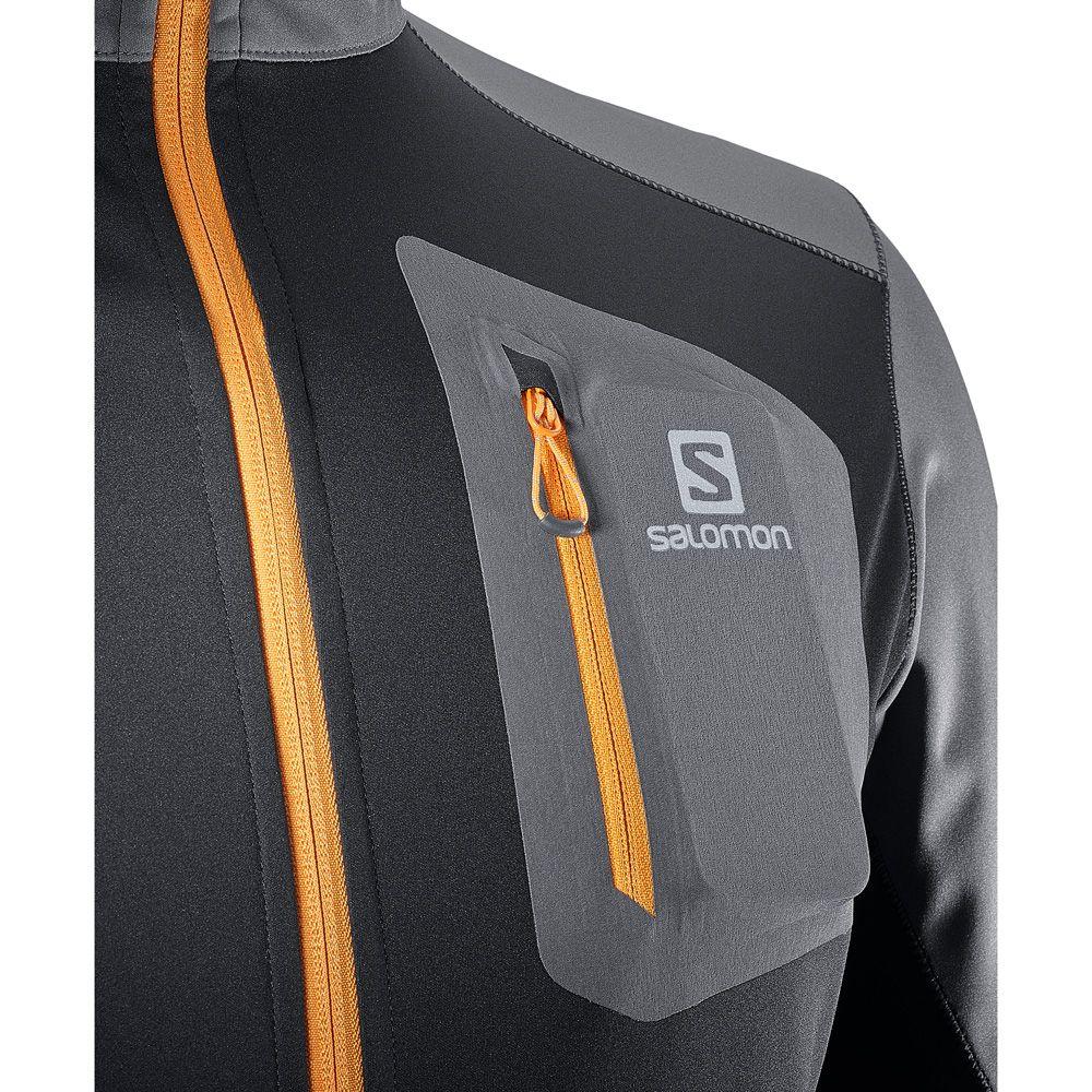 Salomon RS Softshell Jacke Herren forged iron black