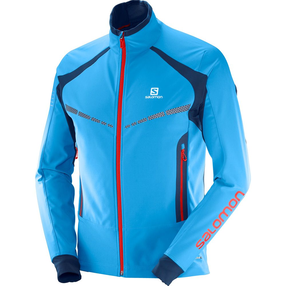 Salomon RS Warm Softshell Jacket Women dress blue at Sport