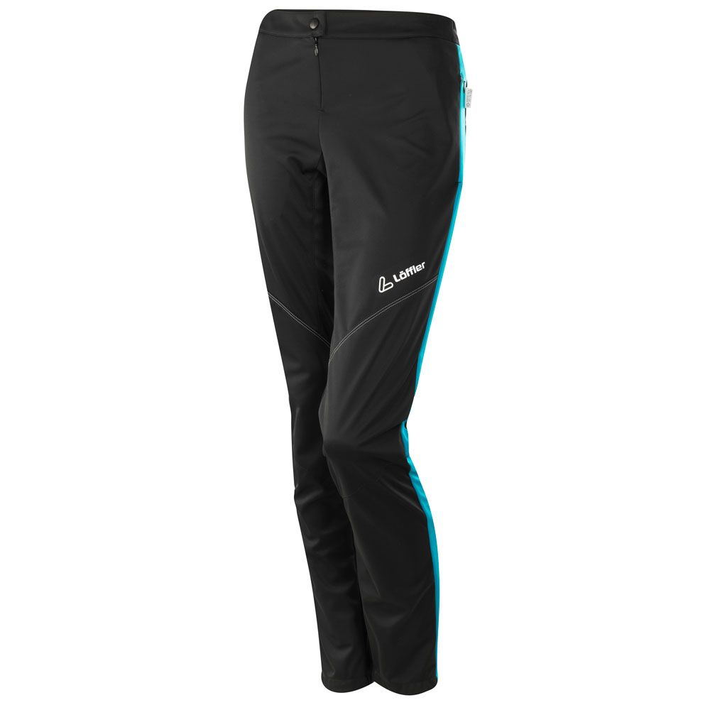 Attaq WS Light Langlaufhose Damen black topaz blue