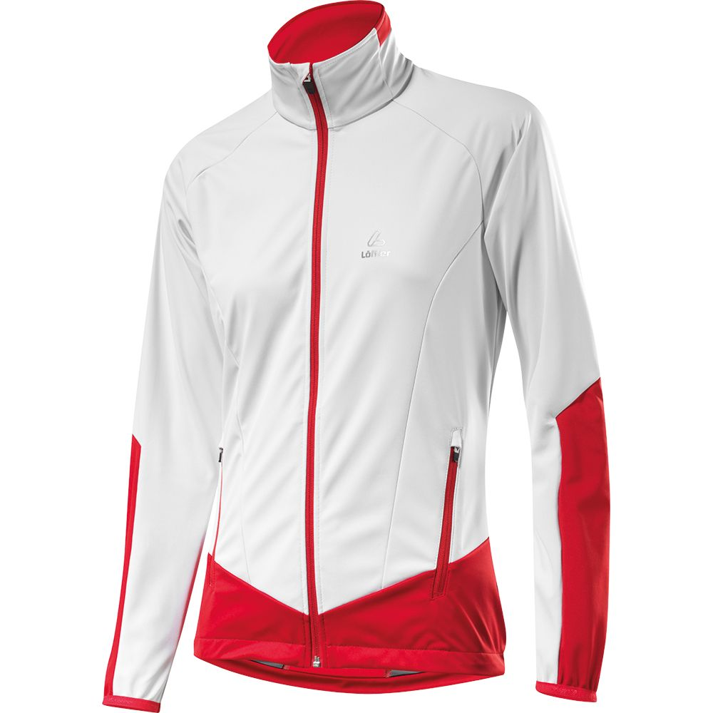 Löffler Jacke WS Softshell Light Damen weiß rot