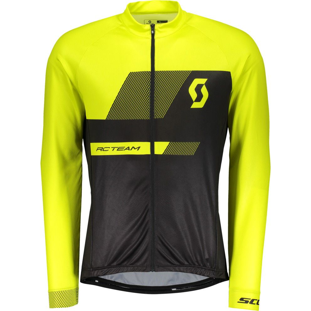 06d7c07e0 Scott - RC Team 10 L SL Shirt Men black  sulphur yellow at Sport ...