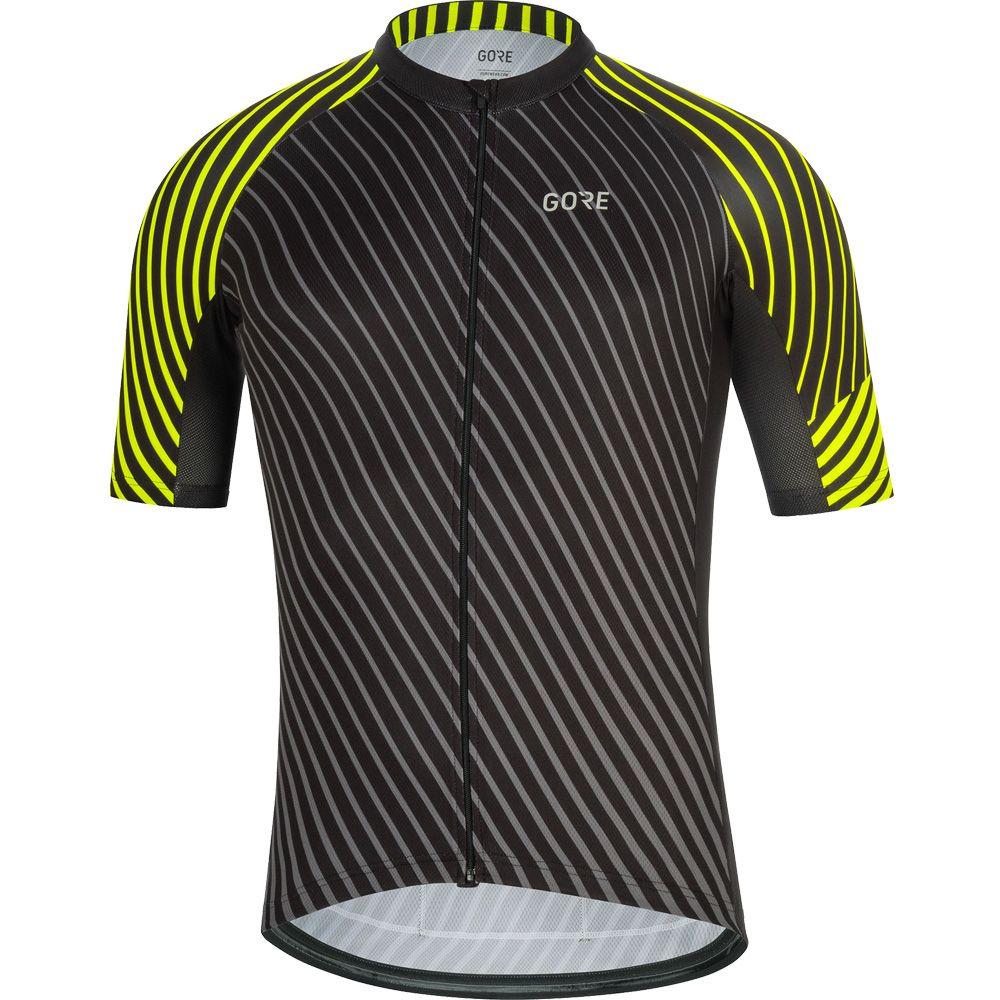 C3 Bike Jersey Men black neon yellow