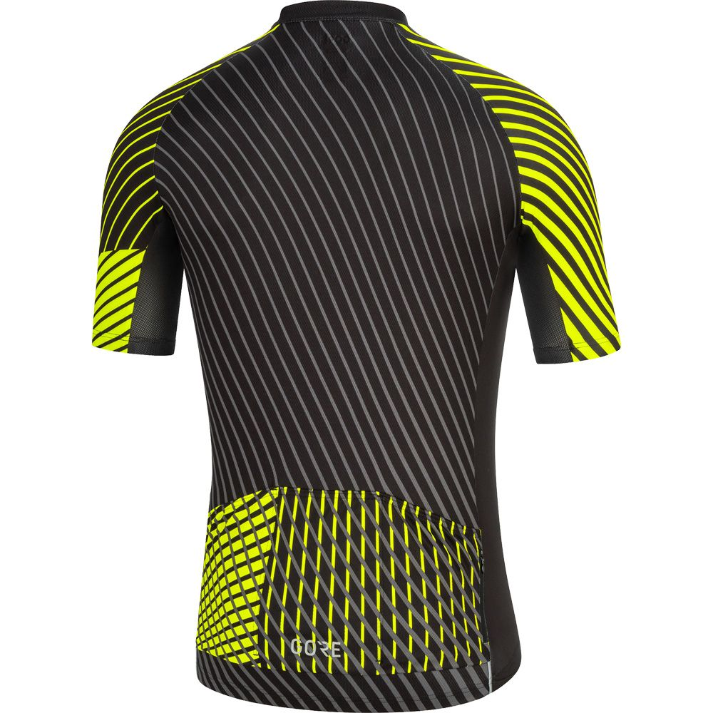 GORE® Wear C3 Bike Jersey Men black neon yellow at Sport