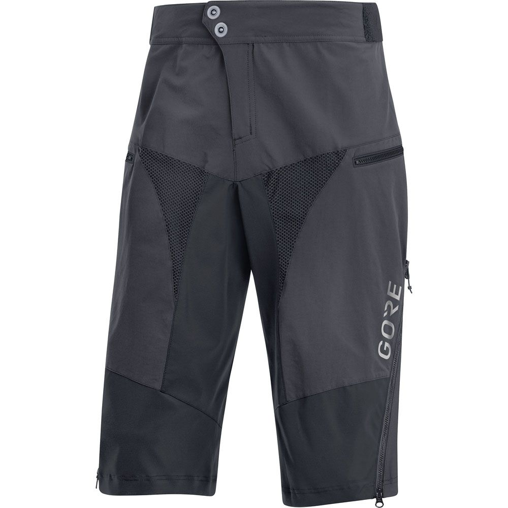 C5 All Mountain Shorts Herren grau schwarz