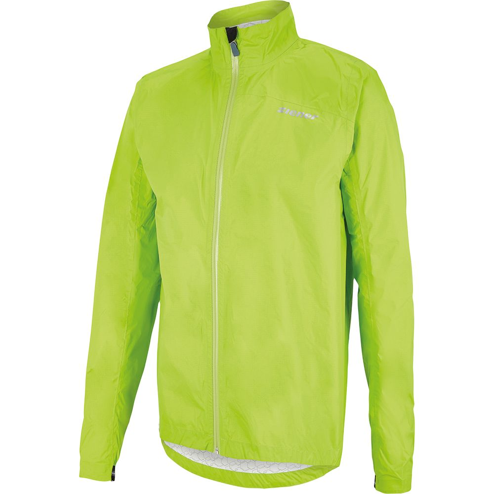 Ziener Carmello Rainjacket Men lime green at Sport Bittl Shop