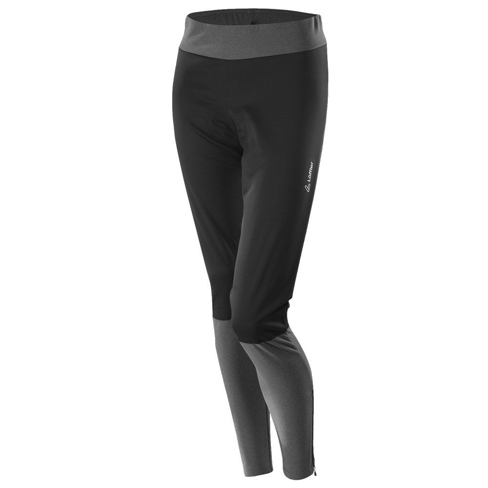 Wie findet man Modestil von 2019 Original Löffler - Fusion Windstopper Softshell Warm Fahrradhose Damen schwarz grau