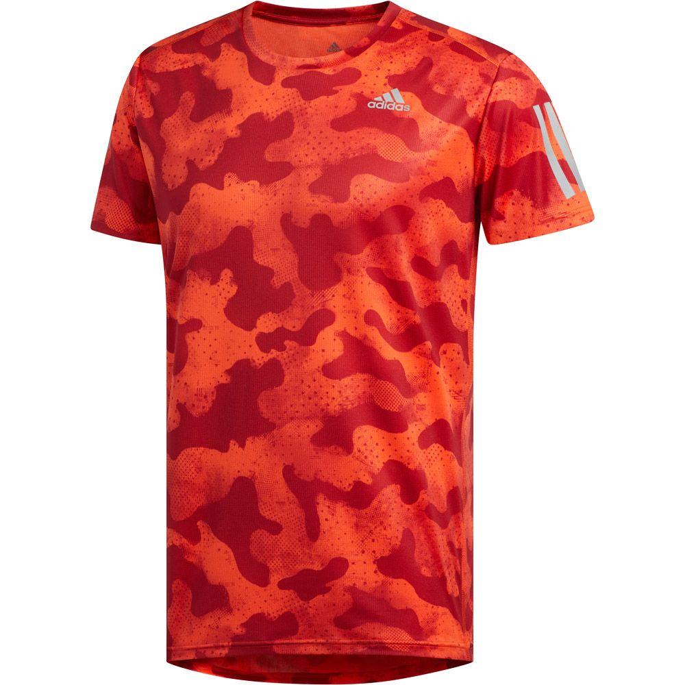 T Shirt active active maroon Camo Urban Run Own orange adidas Herren the TFJlK1u3c