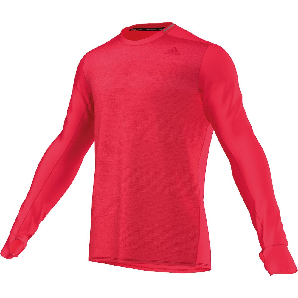 Adidas Supernova Long Sleeve Shirt Men Ray Red At Sport
