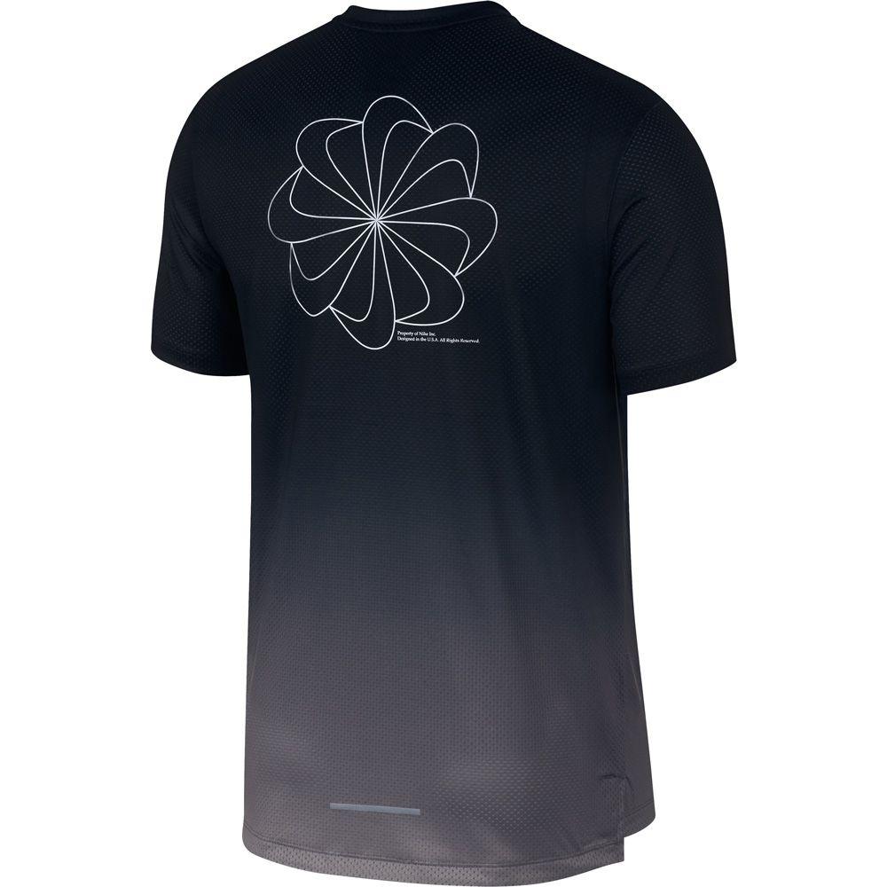 Nike Dri FIT Miler Running Shirt Men gunsmoke black reflective silver