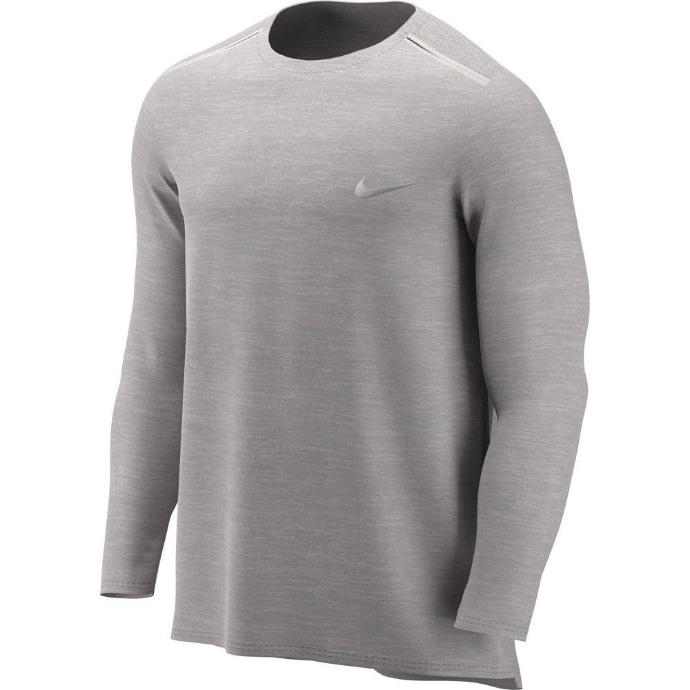 Nike Miler Running Top Men atmosphere grey htr reflective