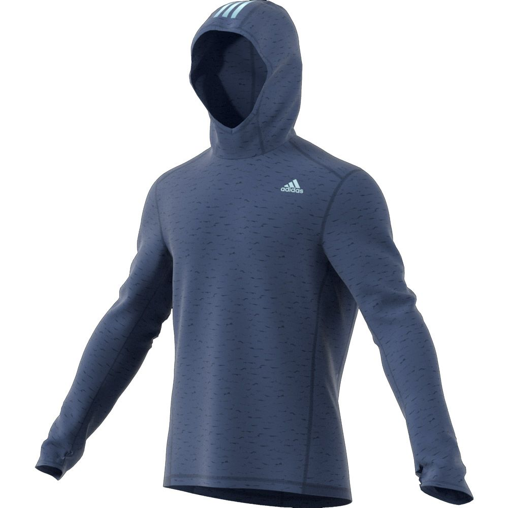 adidas Response Hoodie men noble indigo at Sport Bittl Shop