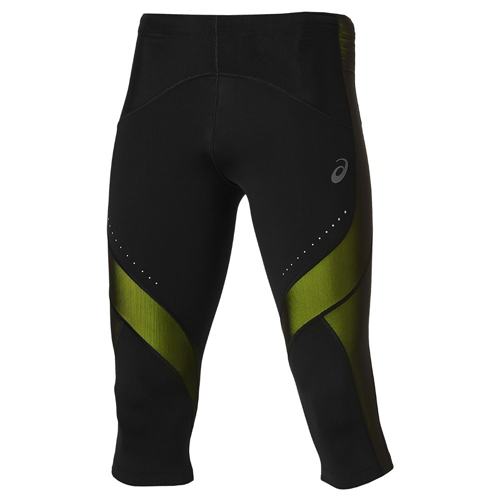 ASICS Leg Balance Knee Tight Men black yellow at Sport