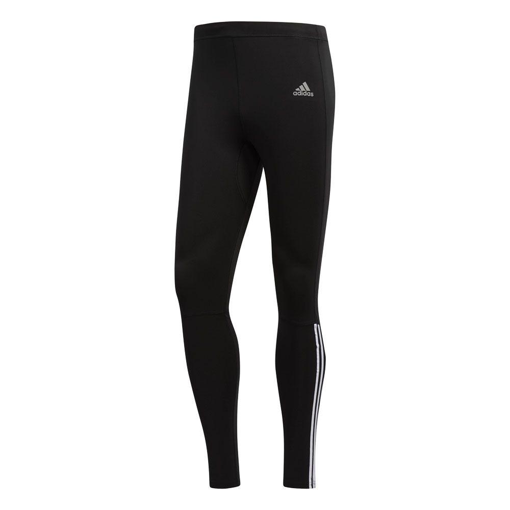 derivación Generalmente hablando Hubert Hudson  adidas - Running 3-Stripes Tights Men black white at Sport Bittl Shop