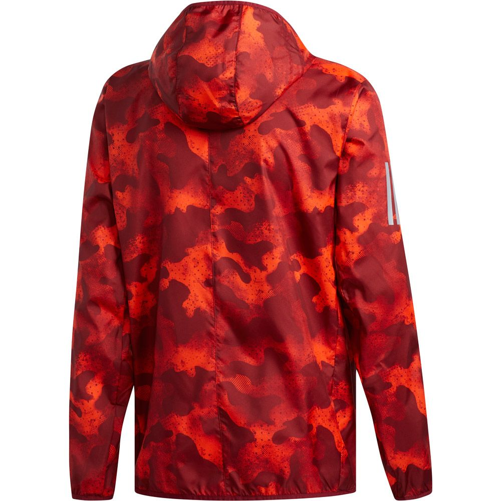 Adidas Own The Run Camouflage Jacket Men Active Orange Active