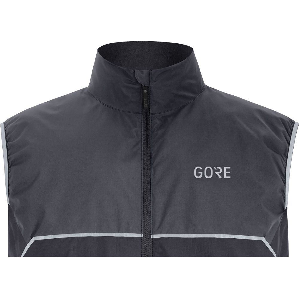 GORE® Wear - R7 Partial Gore-Tex Infinium™ Vest Men black terry grey ... a5e3d2749