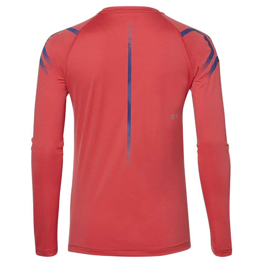 8d24271c0 ASICS - Icon Long Sleeve Women pixel pink peacoat at Sport Bittl Shop