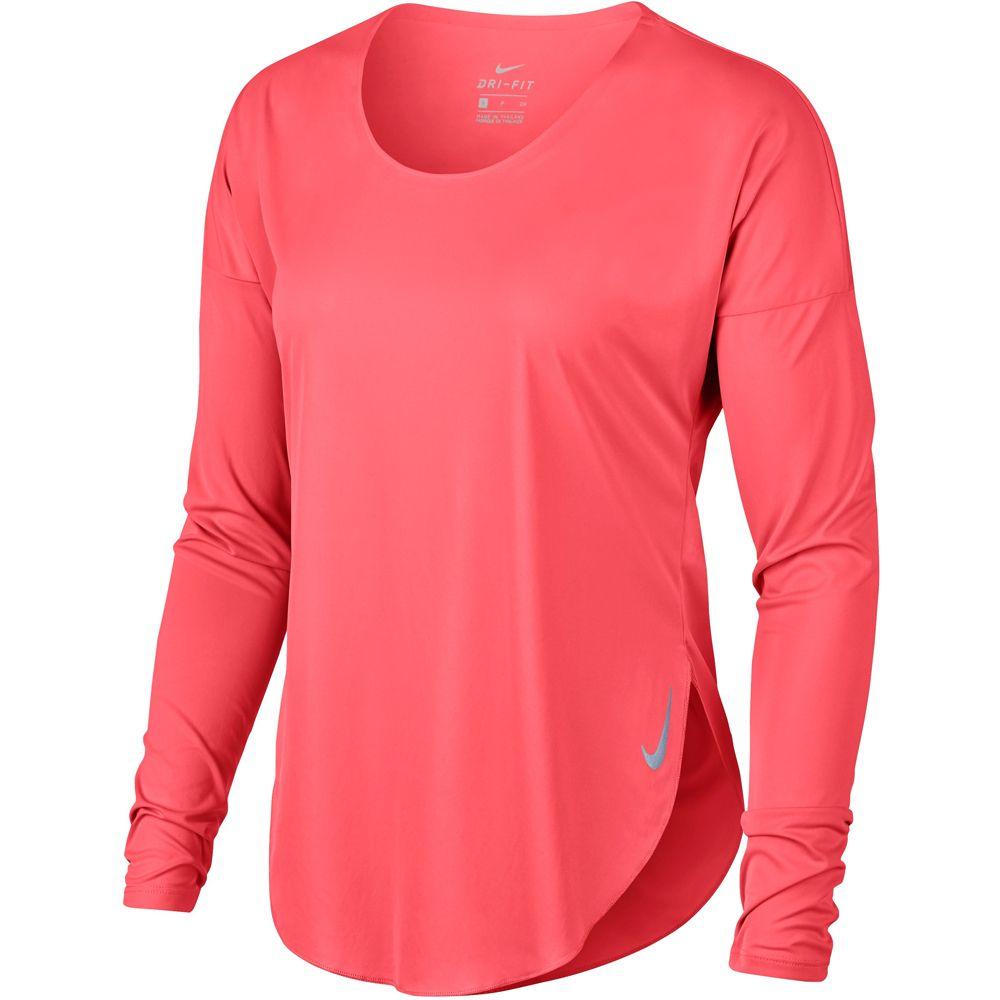 reflective ember glow City Longsleeve Damen Sleek Laufshirt Nike silver FKTJlc1