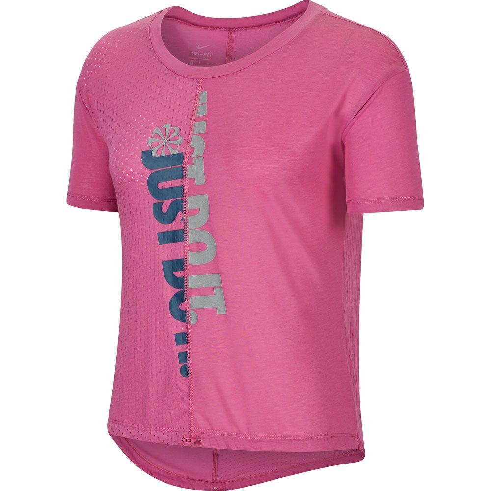 Nike IconClash Running Shirt Women cosmic fuchsia reflective silver