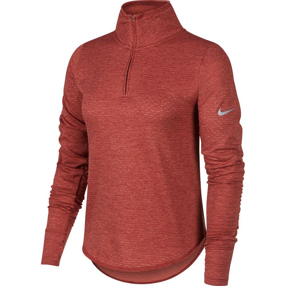 Nike Sphere Element Running Shirt Women cedar light redwood heather reflective silver