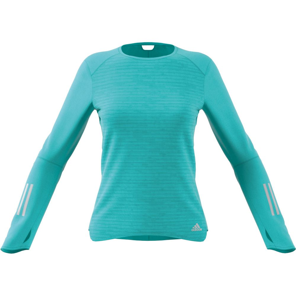3890ef505c8 adidas - Response Long Sleeve Shirt Women energy aqua at Sport Bittl ...