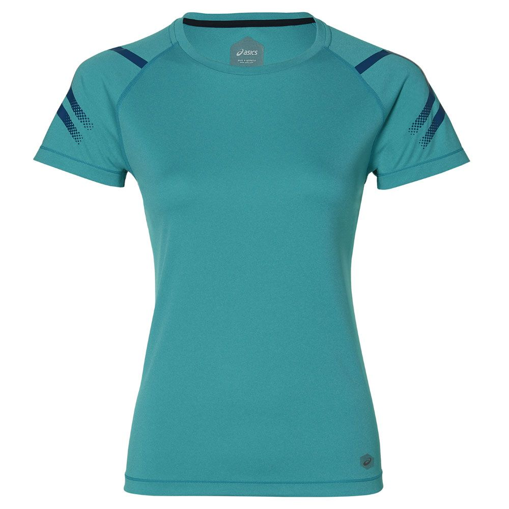 6e03e382a ASICS - Icon Running Shirt Women lake blue heather at Sport Bittl Shop