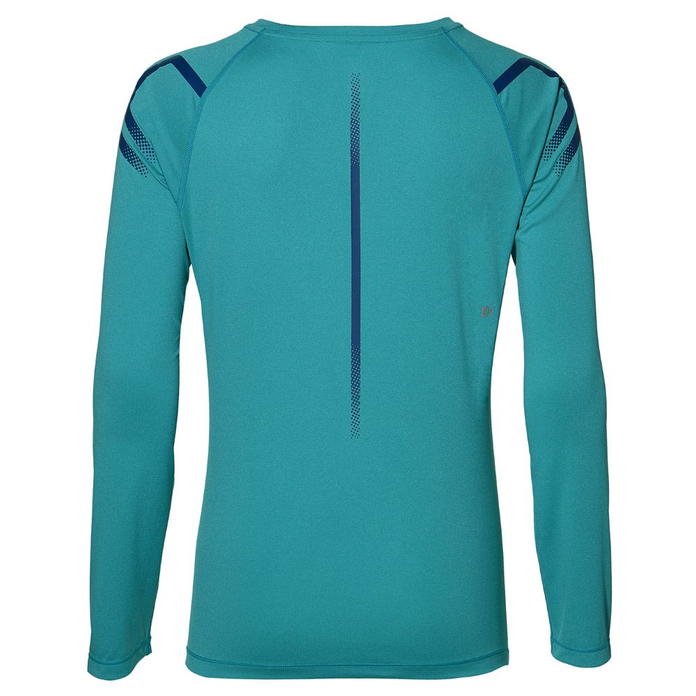 c4a76b02c ASICS - Icon Longsleeve Women lake blue heather at Sport Bittl Shop
