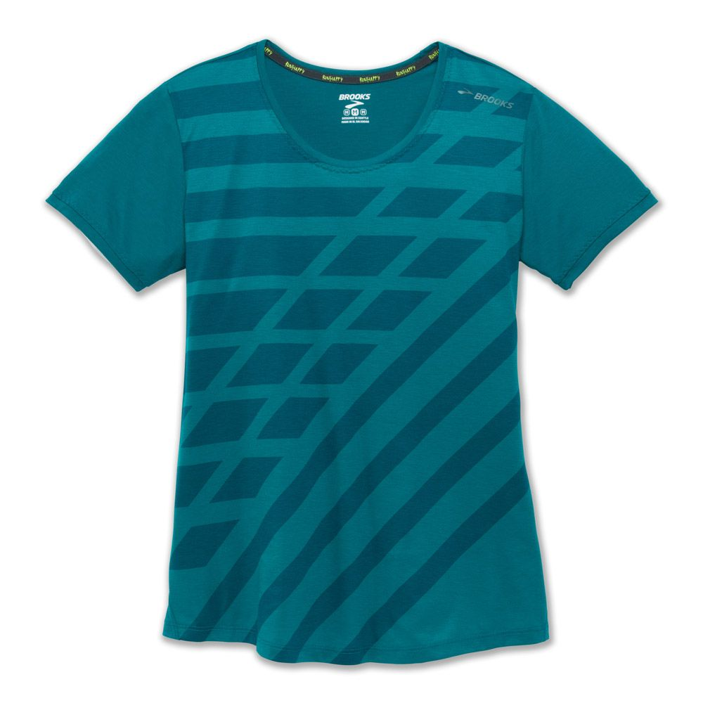 59acd7707 Brooks - Distance T-shirt women heather ocean at Sport Bittl Shop