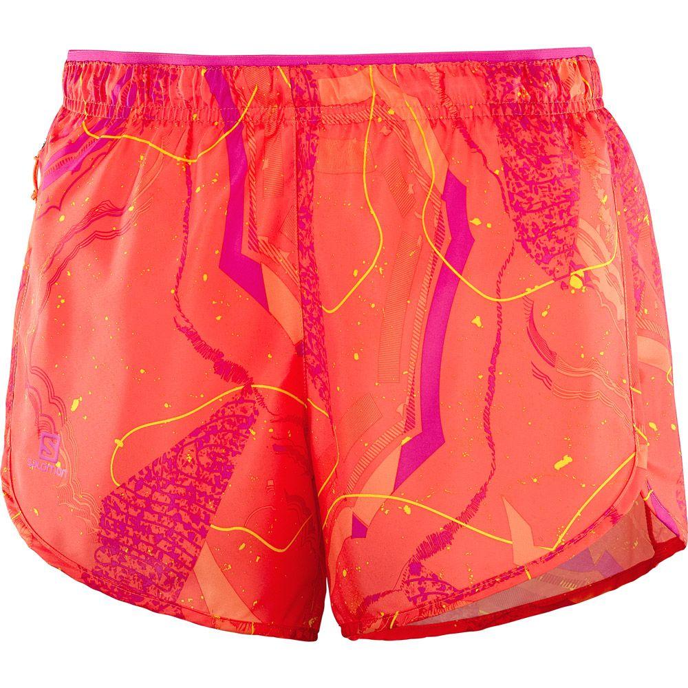 Agile Running Shorts Women nasturtium pink. Salomon