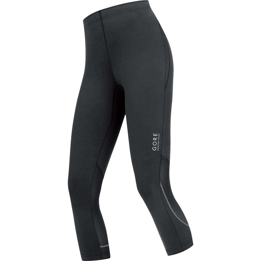 gore running wear essential tights 3 4 damen schwarz at. Black Bedroom Furniture Sets. Home Design Ideas