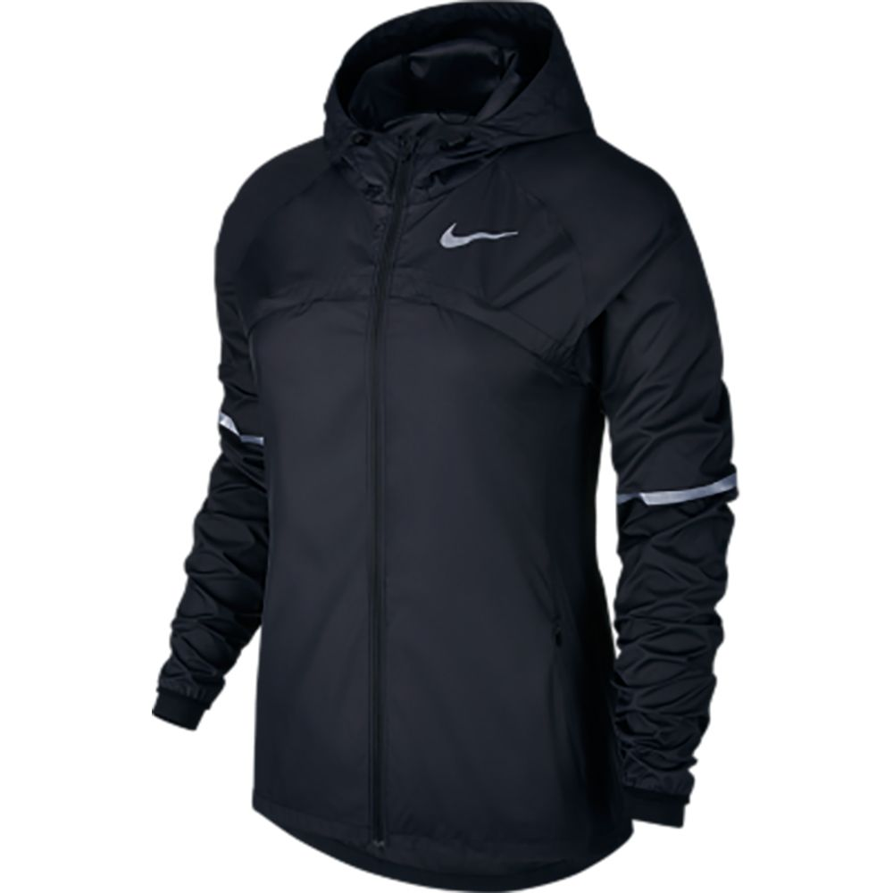 nike shield hooded jacket damen black kaufen im sport bittl shop. Black Bedroom Furniture Sets. Home Design Ideas