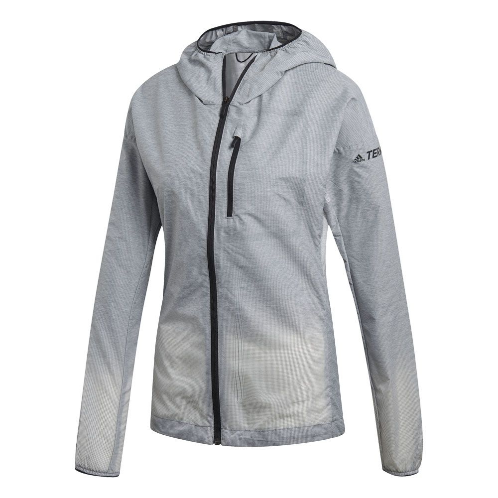 adidas Agravic Windweave Jacket Women grey three white at