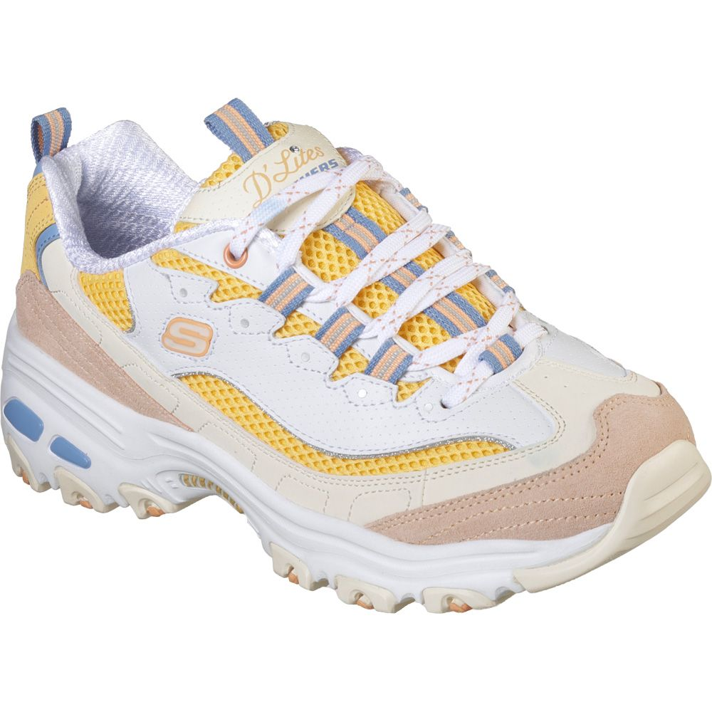 on sale 411df fa084 Skechers D Lites Second Chance Sneaker Women white yellow