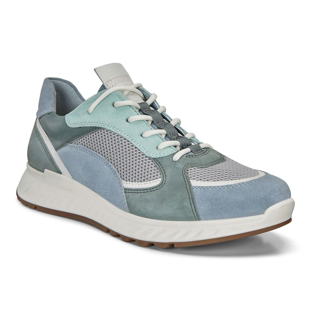 Ecco ST.1 Sneaker Damen dusty blue white concrete lak