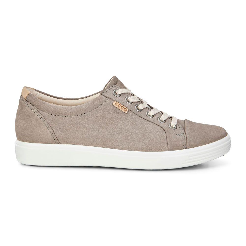 Ecco Ecco Soft Leather Sneaker Women warm grey
