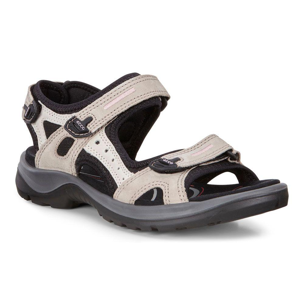 Ecco Offroad Trekking Sandals Women atmosphere ice white black
