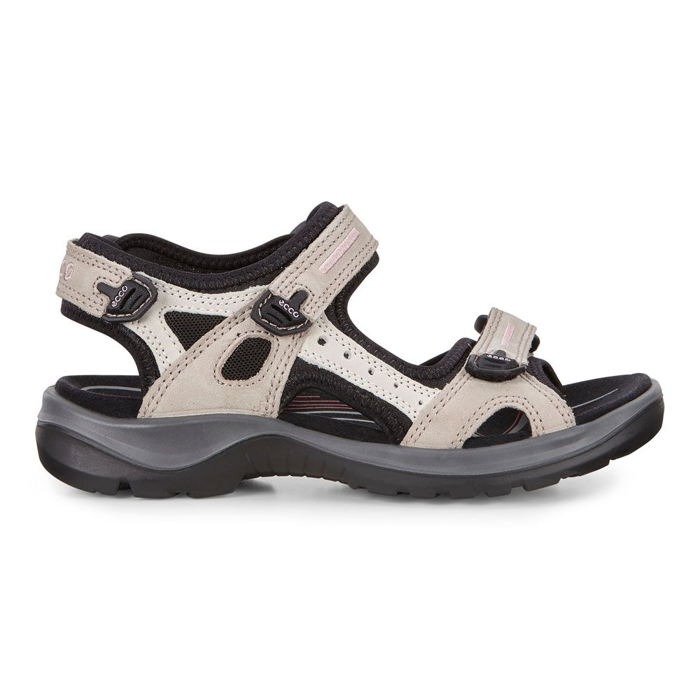 Ecco Offroad Trekking Sandals Women atmosphere ice white black