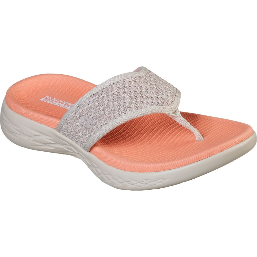 check out 6fa42 6df62 Skechers On the GO 600 Glossy Sandal Women taupe orange
